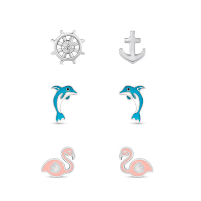 Nautical Stud Set in Sterling Silver