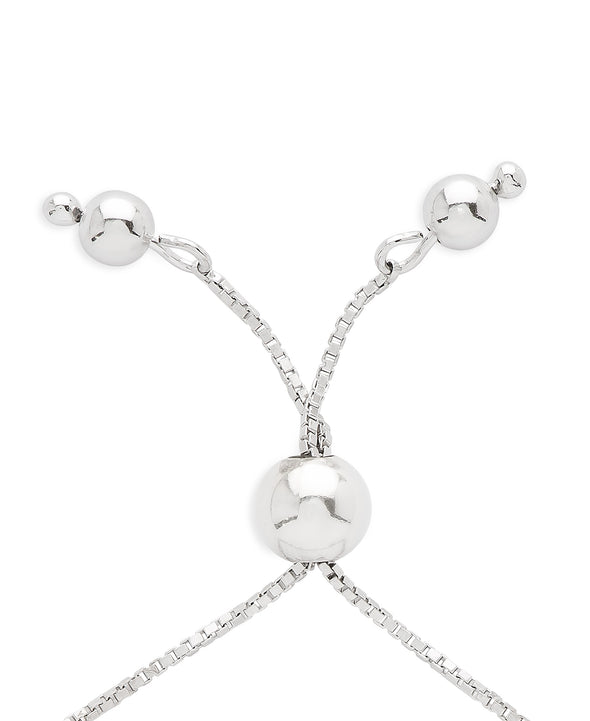 Heart Lock and Freshwater Pearls Bolo Bracelet in Sterling Silver