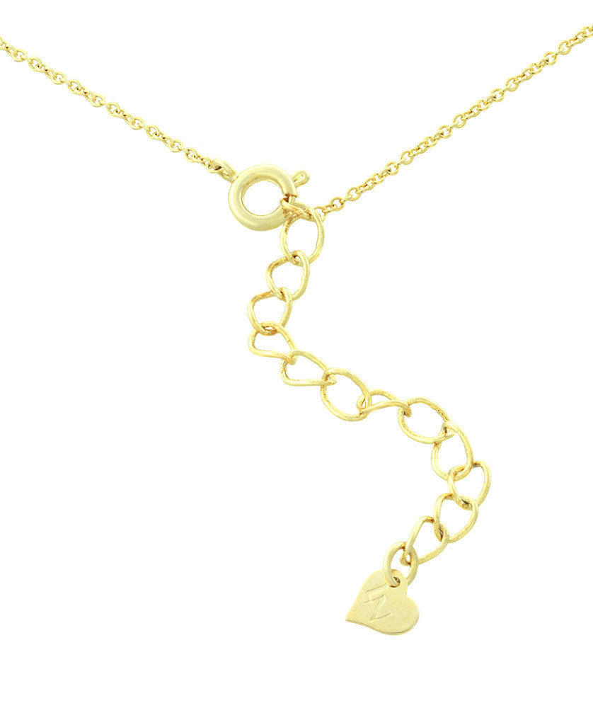 Heart Lock Pendant with CZ-4