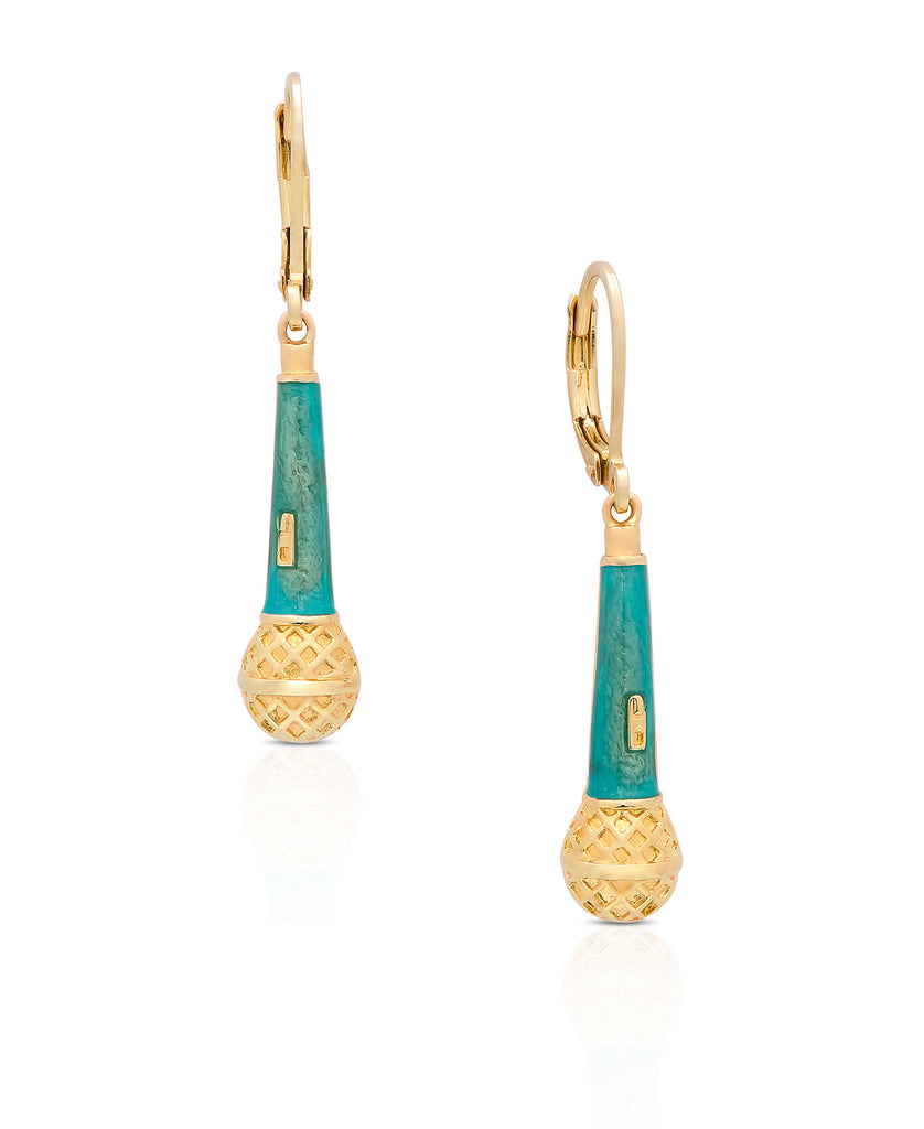 Microphone Leverback Earrings-1