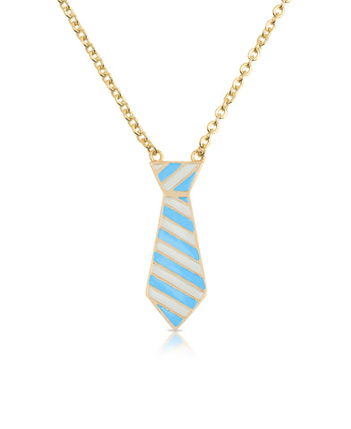 Striped Tie Necklace