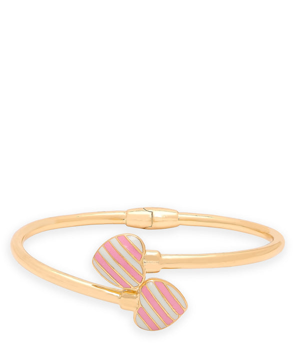 Striped Heart Bypass Bangle