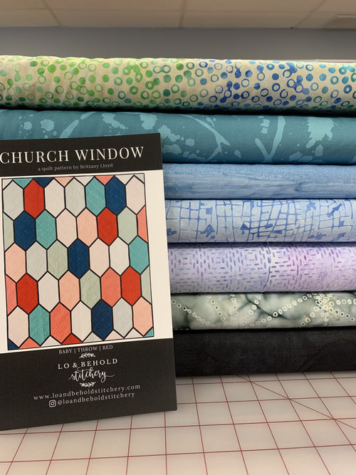 Church Window Kit [Batiks Cool]