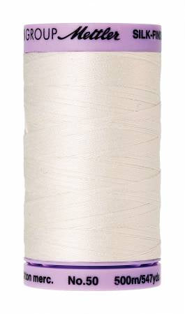Silk-Finish 50wt Solid Cotton Thread 547yd/500M Candlewick # 9104-3000