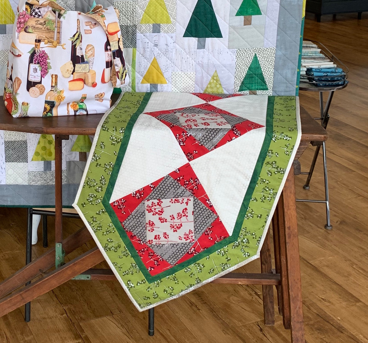 Tilted Squares Table Runner Kit