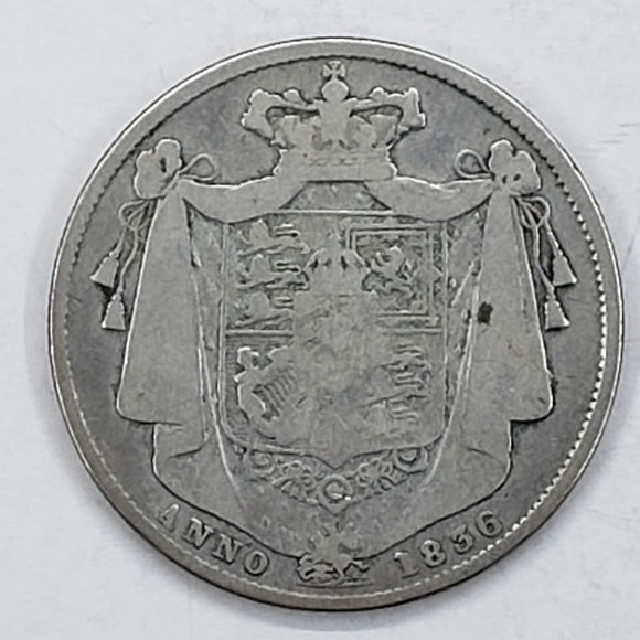 Great Britain ½ Crown 1836