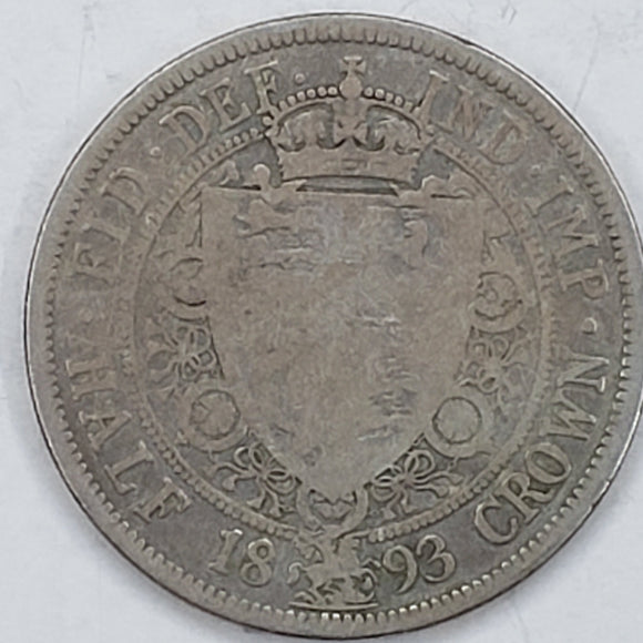 Great Britain ½ Crown 1893