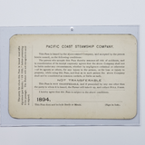 Pacific Coast Steamship Co. 1894 Pass