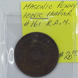 Masonic Penny, Ionic Chapter #161 R.A.M.