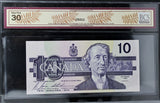 1989 Bank of Canada $10, 3-digit RADAR, BCS Certified VF-30