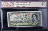 1954 Bank of Canada $20, Devil's Face, BCS Certified VF-20