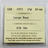 1973 Canada 25 Cents, Large Bust, ICCS Certified SP-66