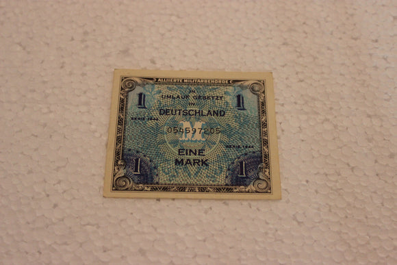 1944 Germany 1 Mark, Allied Military, UNC