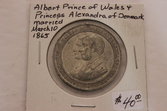 1865 Great Britain, Marriage of Albert & Alexandra 1863, Aluminium