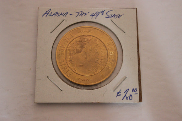 1959 U.S.A, Alaska 49th. State, Brass