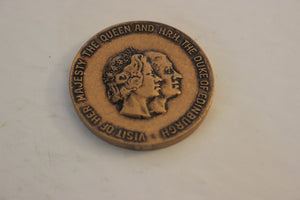 1973 Canada, Scarborough, Royal Visit, Copper / Brass