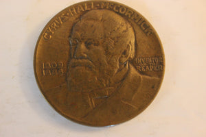 1931 U.S.A, McCormick, International Harvester 100 Year, Brass, Scarce