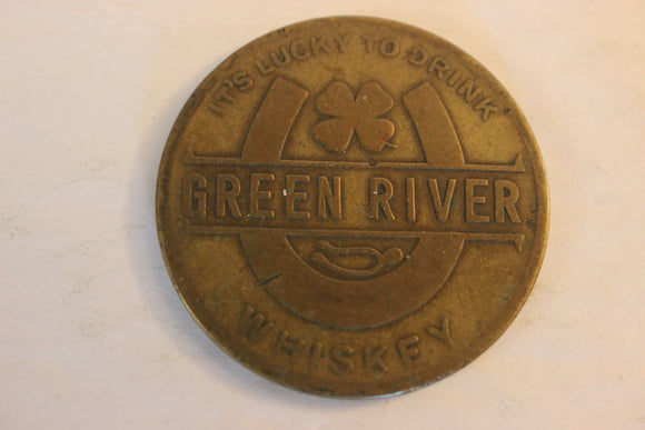 1930 U.S.A. Green River Whiskey Token, Brass
