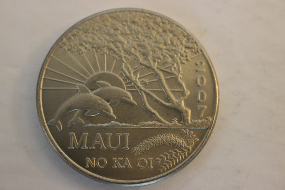 2007 U.S.A. Maui Trade Dollar, Nickel Plated