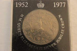 1977 Great Britain, Q.E. 11, Silver Jubilee In Issue Case, Nickel