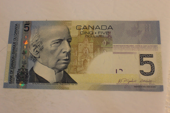 2006 Bank of Canada $5.00, AP prefix, 23 RADAR Notes, Various, UNC, $600 for Set