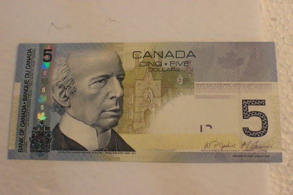 2010 Bank of Canada $5.00, HAB Replacements, 8 Notes, Jenkins / Carney, UNC, $240 for Set