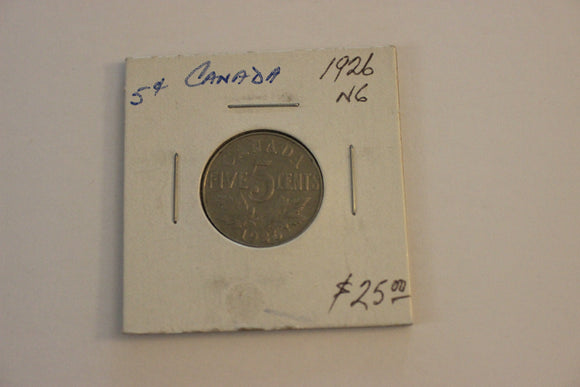 1926 5 Cents, Nickel, N6