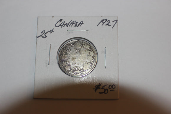 1927 25 Cents, Silver