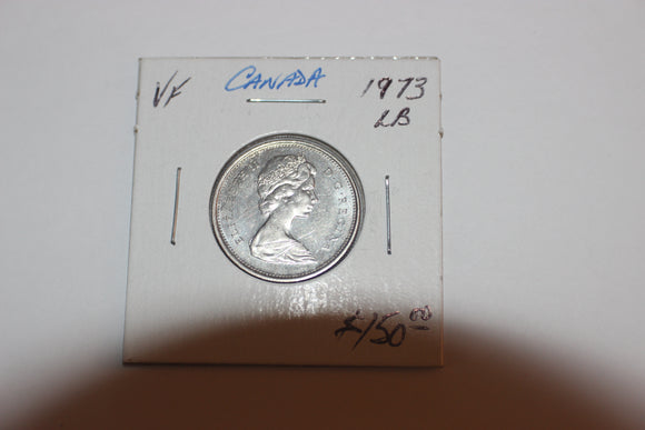 1973 25 Cents, Nickel, Large Bust Variety
