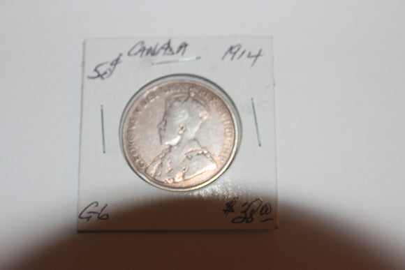1914 50 Cents, Silver, G 6