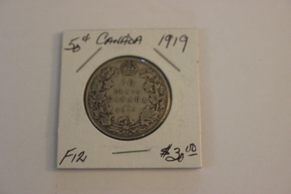 1919 50 Cents, Silver, F 12