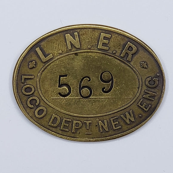 U.K. 1900s L.N.E.R. Railway pay Token