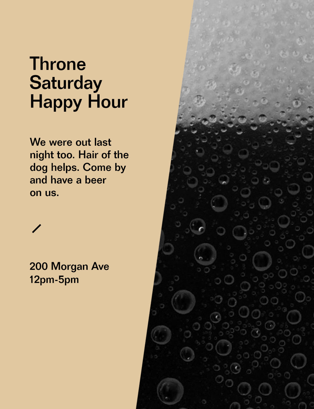 Throne Saturday Happy Hour 05/11/18