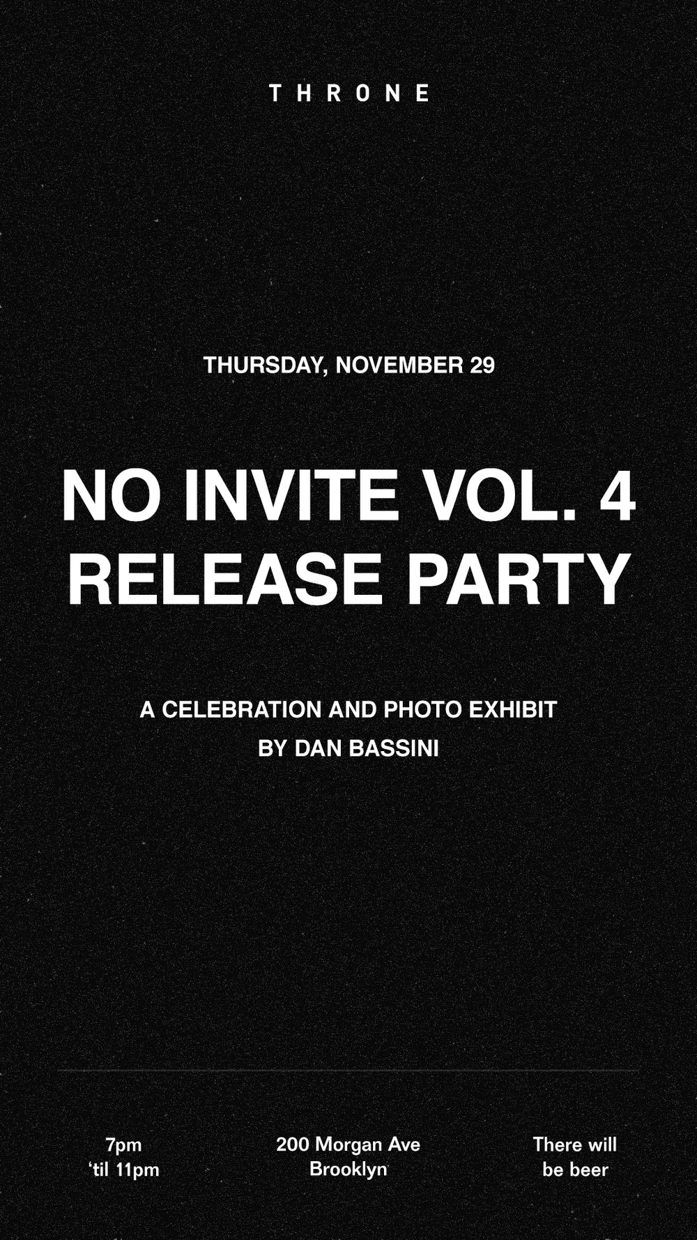 No Invite Release Party