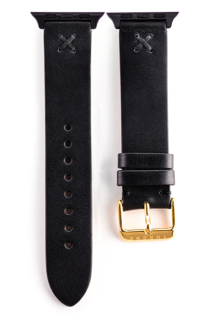 Black classic with black stitching for 42mm Apple watch