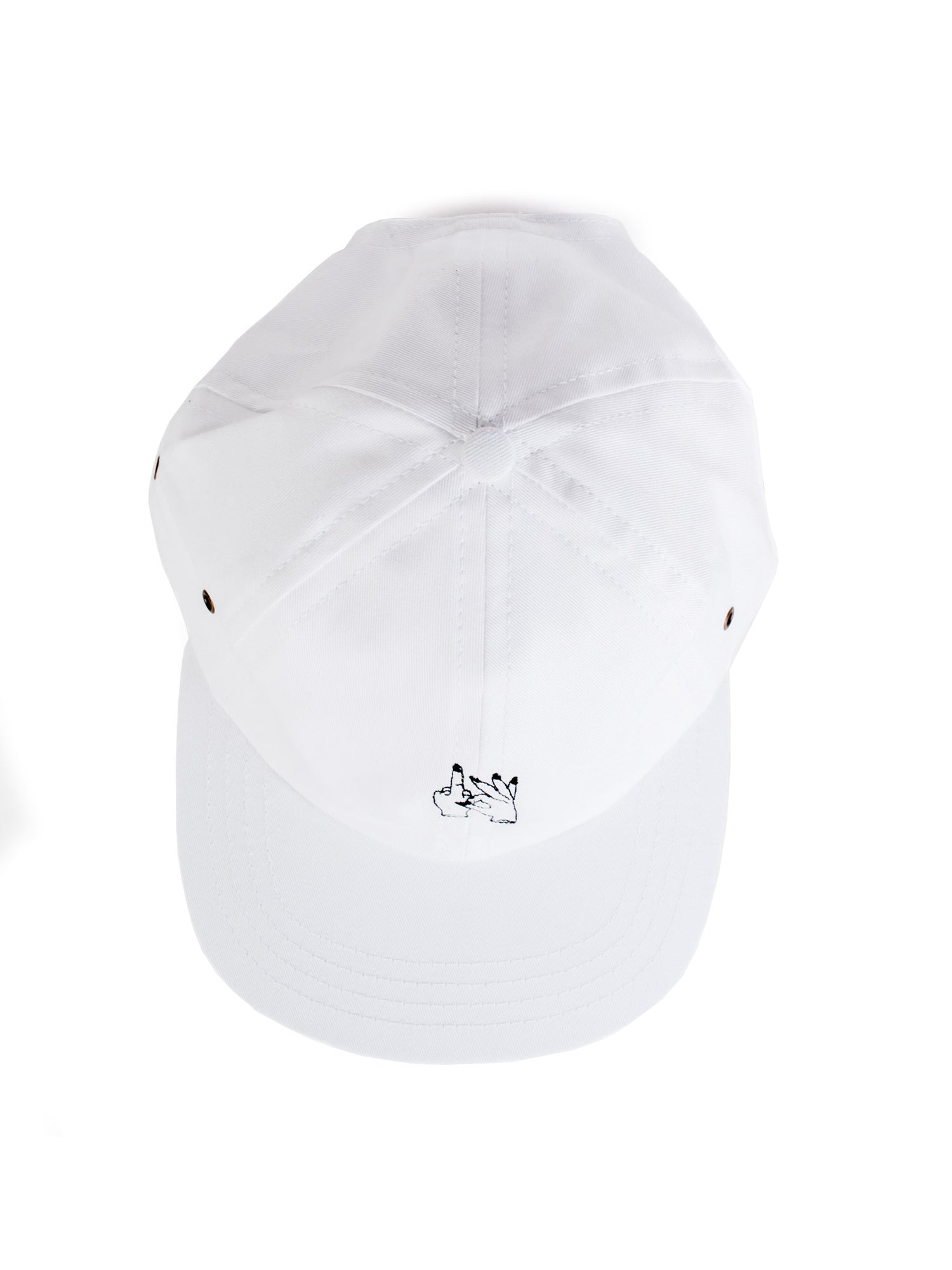Shop hat in white