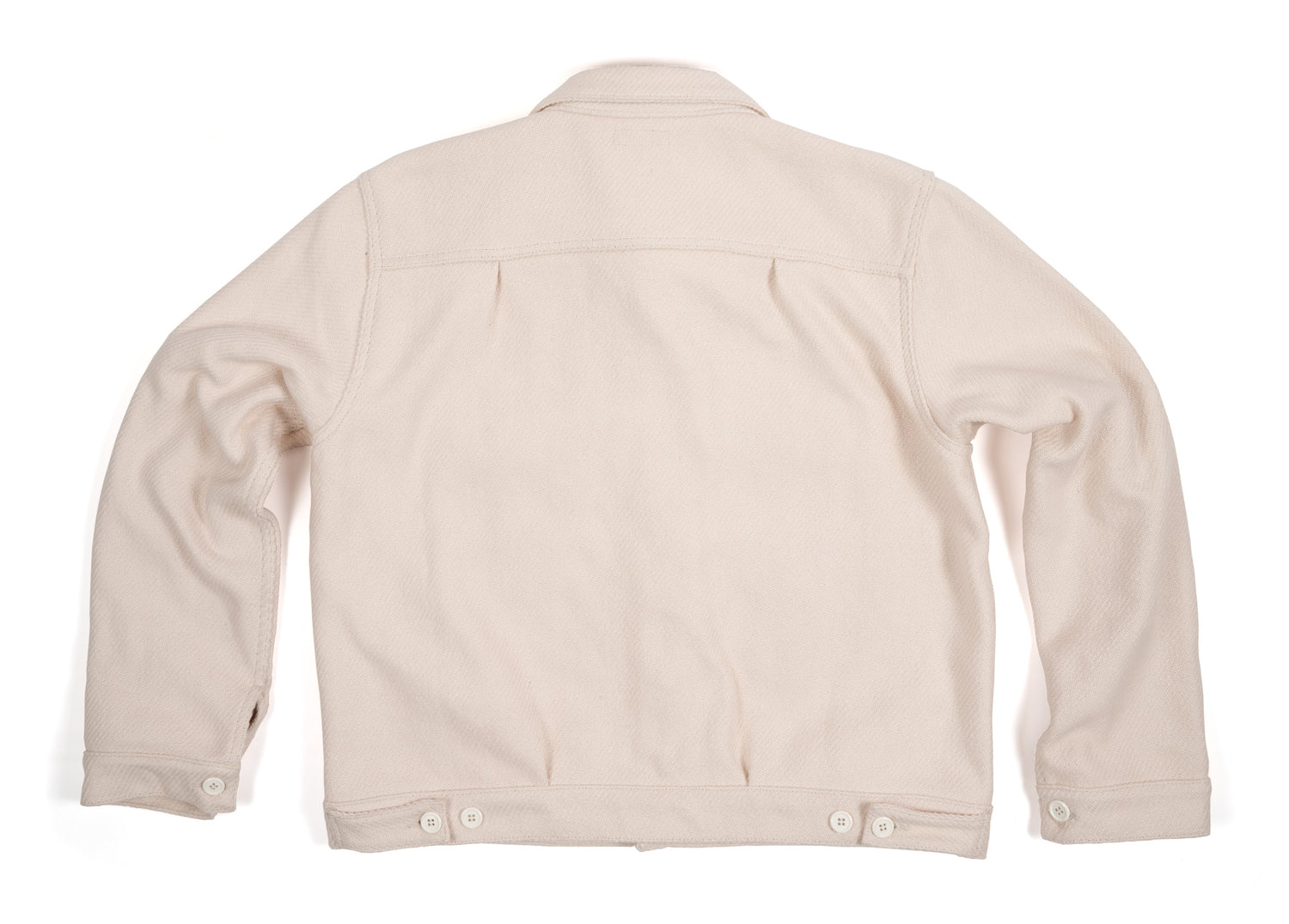 Throne x Knickerbocker Trucker Jacket in Oatmeal