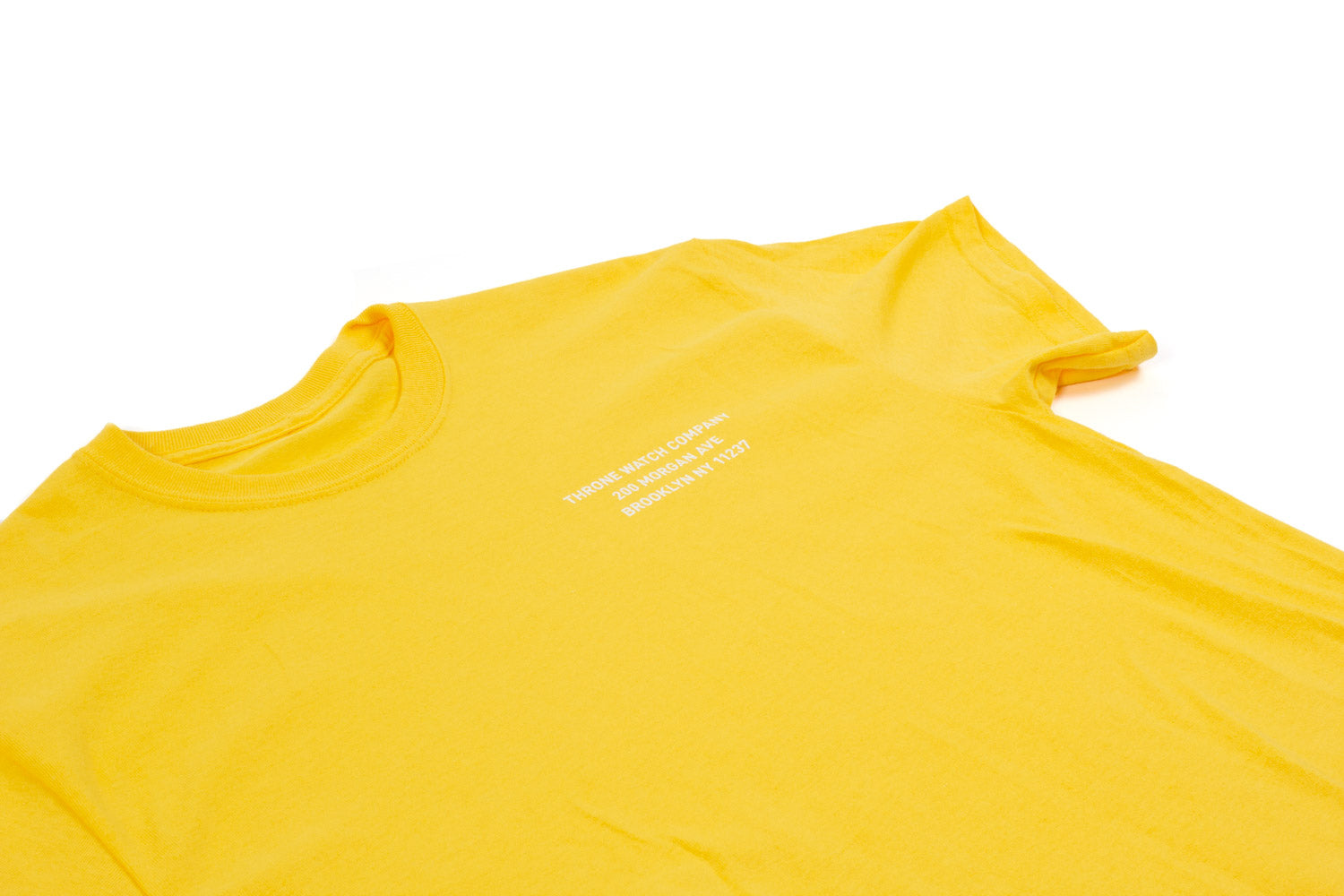 Address shirt in marigold