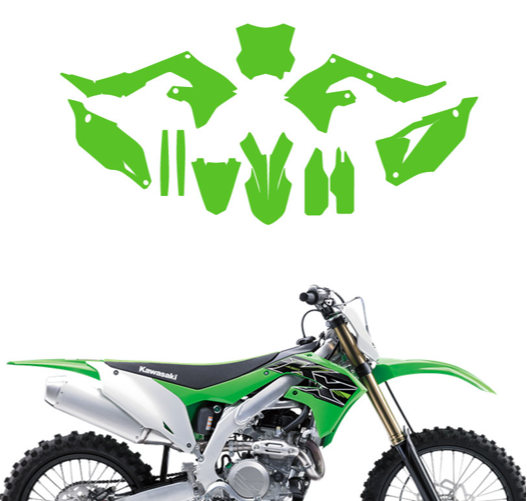 KIT DÉCO 100% PERSO KAWASAKI CROSS ENDURO