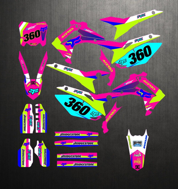 KIT DÉCO SEMI PERSO CRF250R 2014-2017 450R 2013-2016 BDKHC83