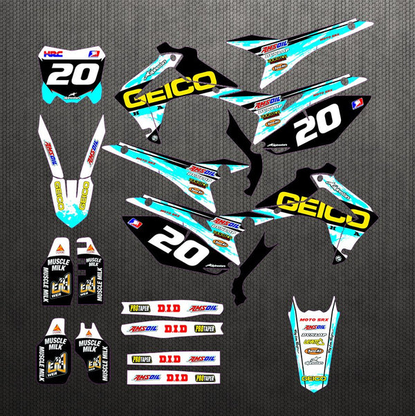 KIT DÉCO SEMI PERSO CRF250R 2014-2017 450R 2013-2016 BDKHC78