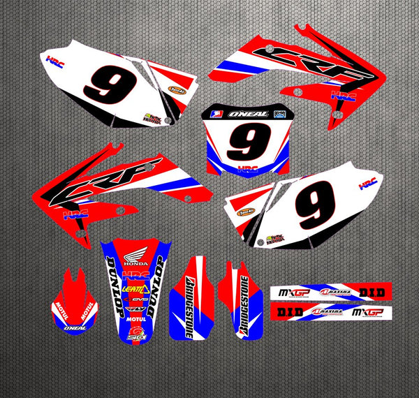 KIT DÉCO SEMI PERSO CRF250R 2004-2009 BDKHC76