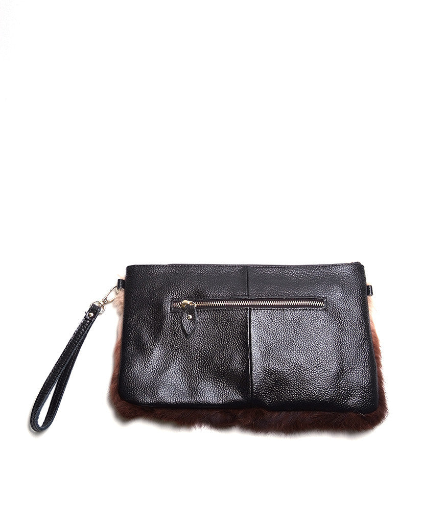 Carried Away Fur Clutch - Piin | ShopPiin.com