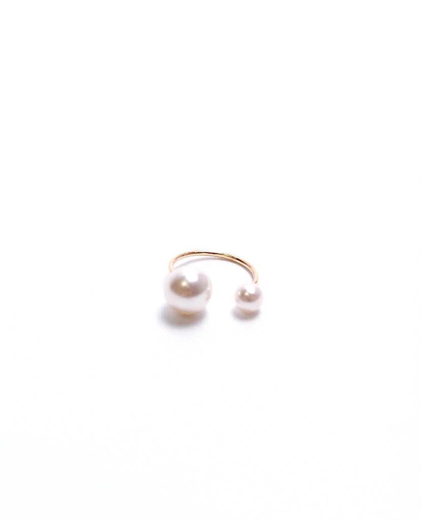 Double Pearl Ring - Pearl/Gold - Piin | www.ShopPiin.com