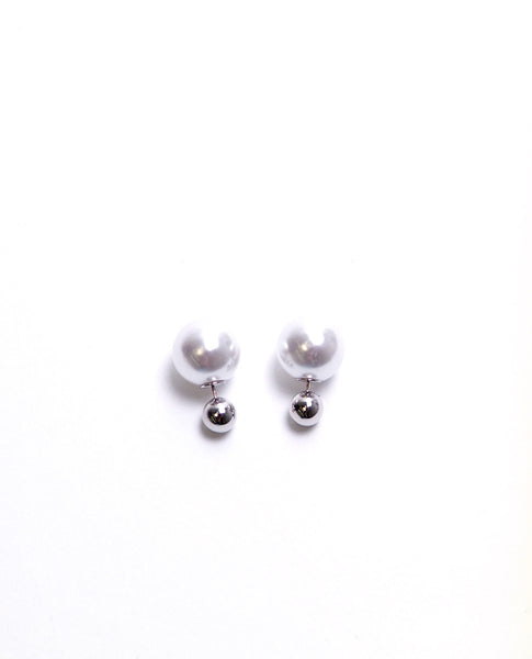 One Or Two Earrings - Silver - Piin | www.ShopPiin.com
