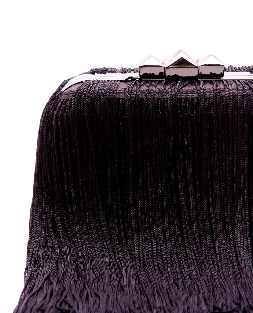 Fringe Clutch - Black - Piin | ShopPiin.com