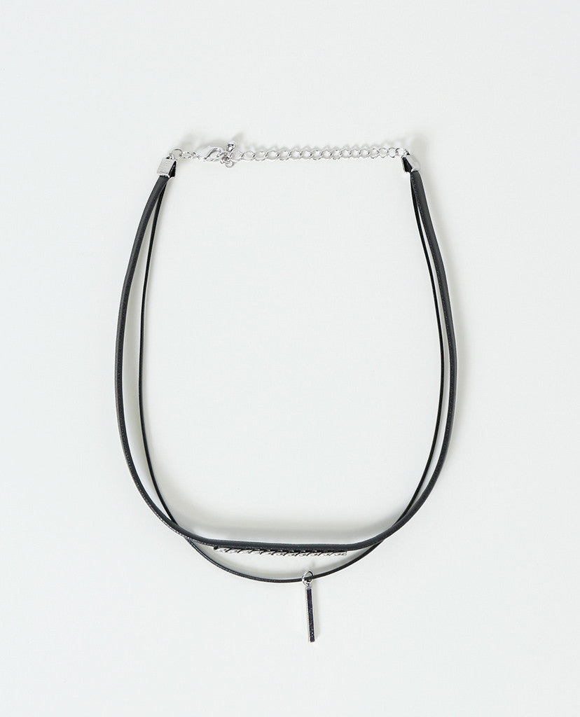 Choke You Up Choker Necklace - Black/Silver - Piin | ShopPiin.com