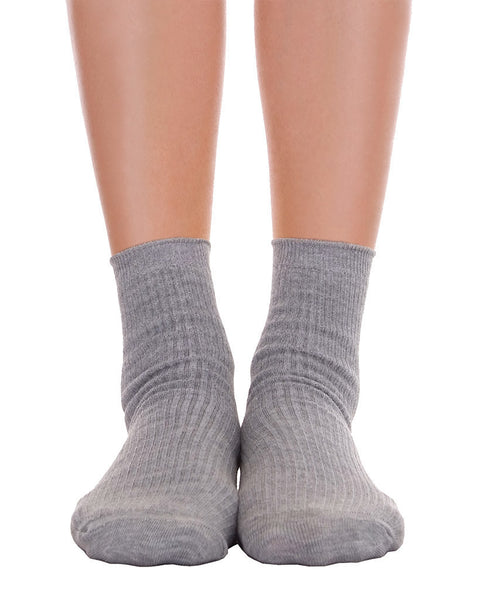 Solid Ankle Socks - Gray - Piin | www.ShopPiin.com