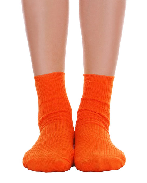 Solid Ankle Socks - Orange - Piin | www.ShopPiin.com