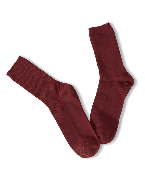 Solid Ankle Socks - Burgundy - Piin | ShopPiin.com